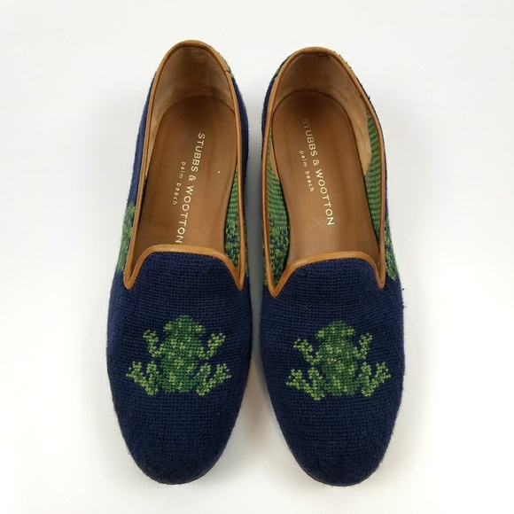 Stubbs & Wootton Embroidered Denim Loafers for sale wholesale price THAZM51